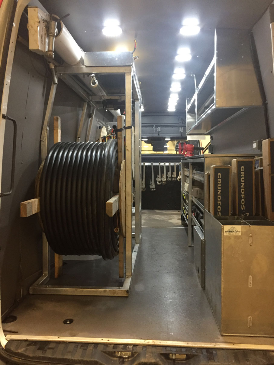 Summers Drilling Van Interior 3