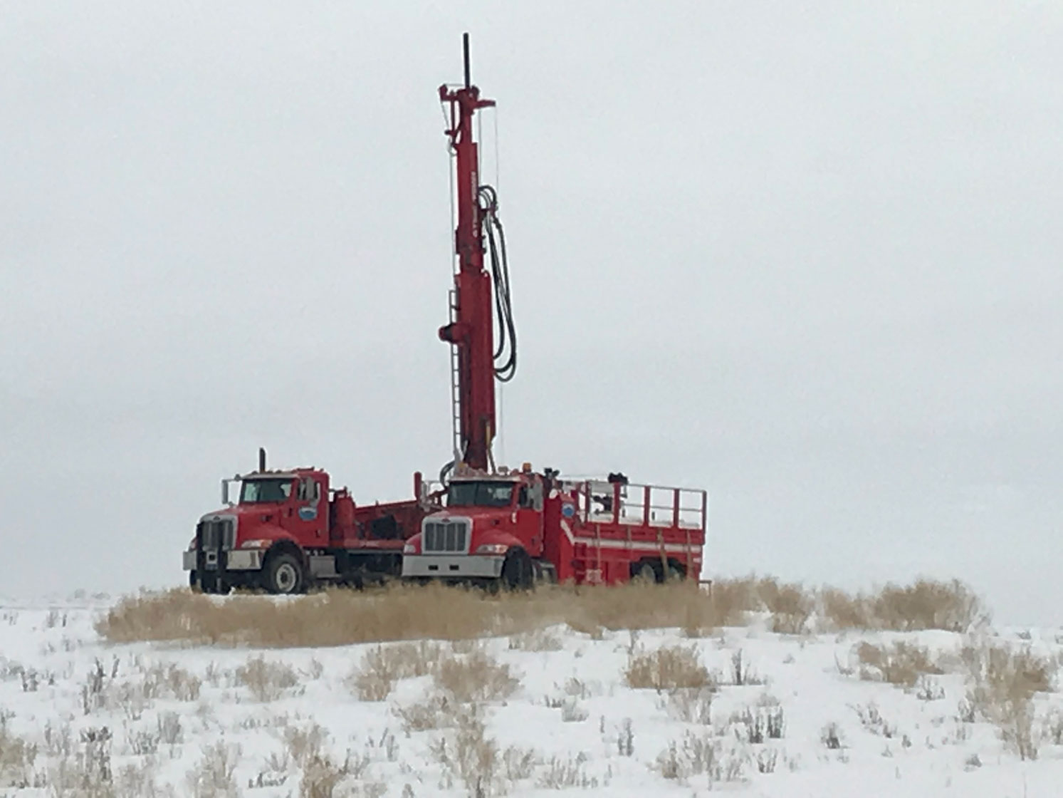 Summers Drilling Truck Snow