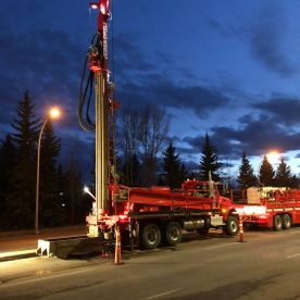 Summers Drilling Truck Night
