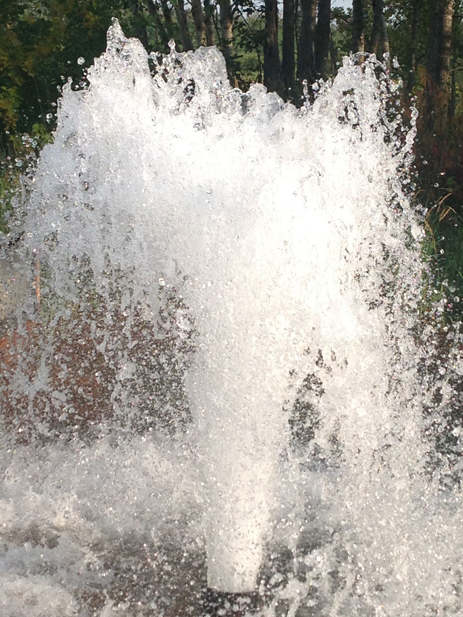 Summers Drilling Water Splash