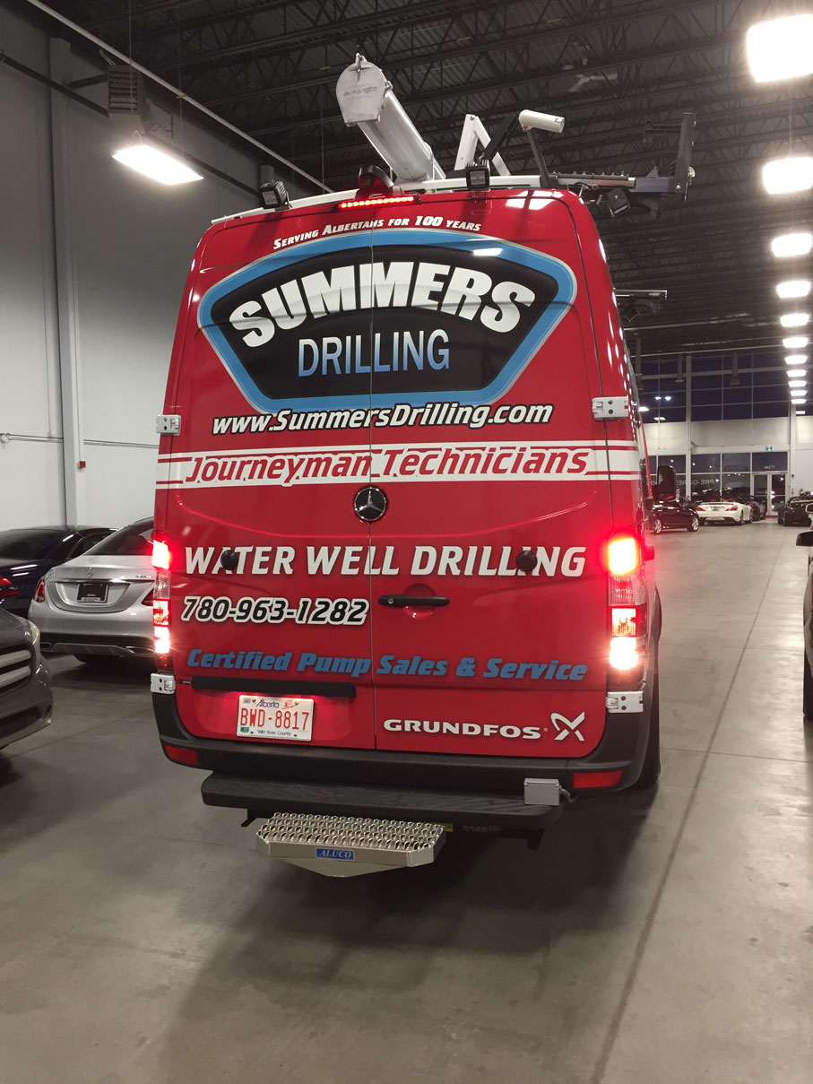 Summers Drilling Van Back