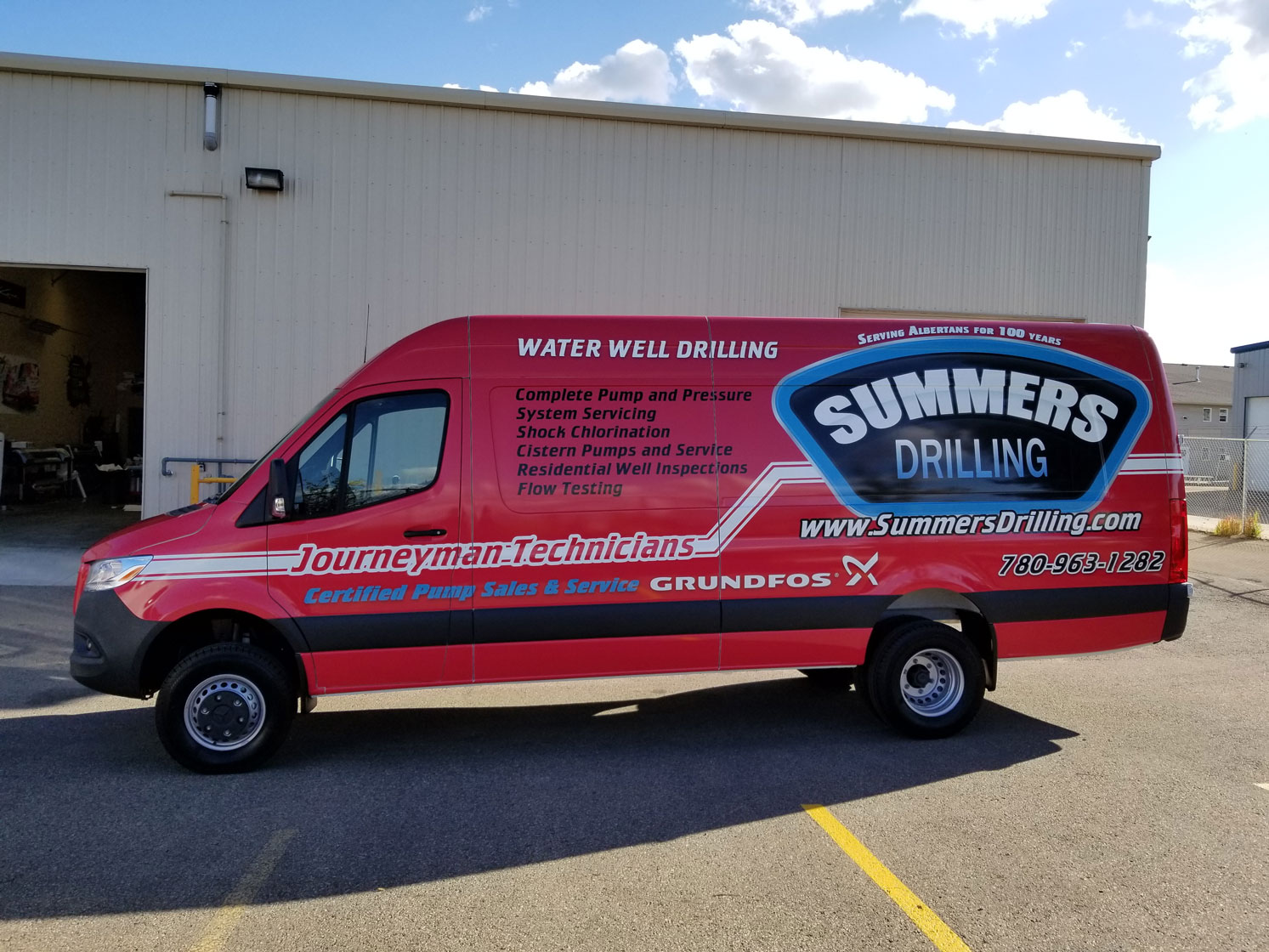 Summers Drilling Van Side